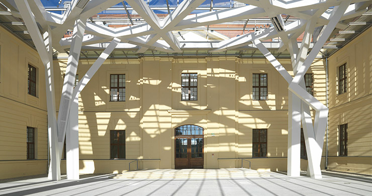 Lichthof Jüdisches Museum - BÖRGERS lawyers & notaries, Berlin - real estate law, building law, architects law, engineers law, tenancy law